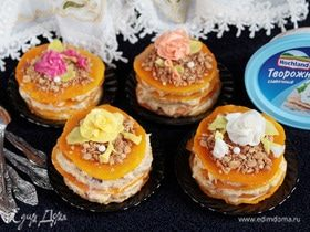 Фруктово-тыквенные пирожные