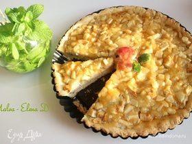 Яблочный пирог с творогом и грецкими орехами