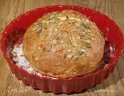 Хлеб на соде с сыром и семечками