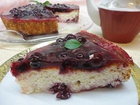 Творожно-вишневый десерт