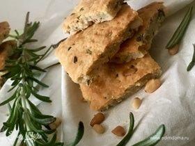 Сырное печенье с кедровыми орешками и травами