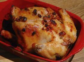 Курица, фаршированная курагой и грецкими орехами
