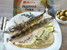 Ледяная рыба, запеченная с тимьяном, цедрой лимона и чесноком