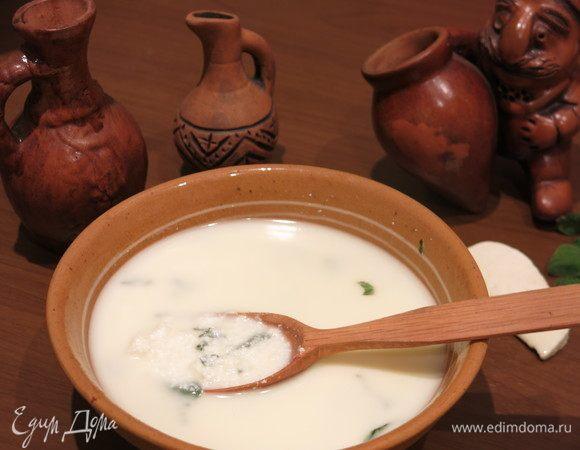 Гадазелили (грузинский сырный суп)