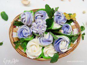Шпинатные блинчики «Весенний букет»