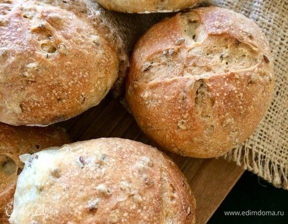 Цельнозерновые булочки с семенами льна