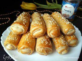 Пирожки из заварного теста с тунцом «Весенние»