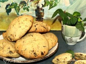 Печенье с мятой и шоколадом