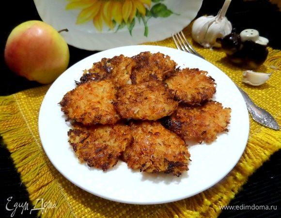 Постные оладьи с рисом и яблоком