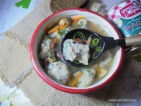 Суп с шампиньонами и фасолевыми клецками