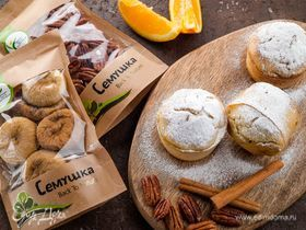Цитрусовые маффины с пеканом и сушеным инжиром