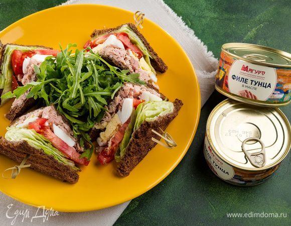 Полезные сэндвичи с тунцом