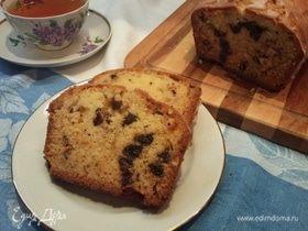 Творожный кекс с черносливом и орехами