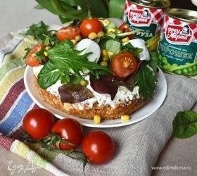 Тарт с творогом, овощами и зеленью