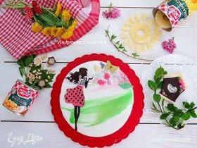 Кокосово-ананасовый торт «Весна идет»