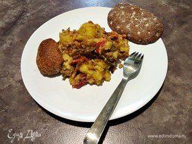 Картофель с кабачками в духовке