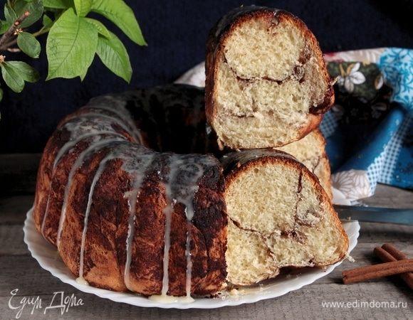 Пирог мраморный с корицей