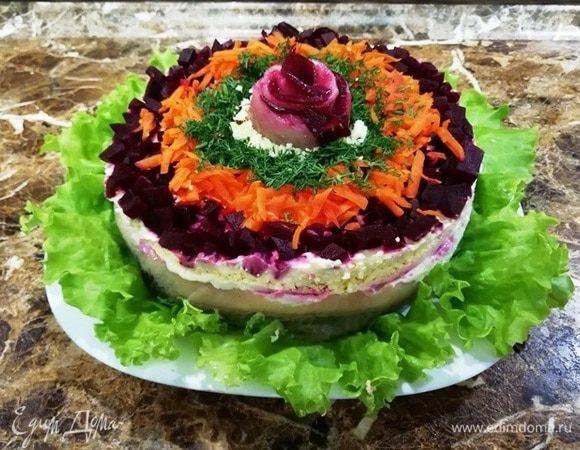 Салат «Шуба под сельдью»