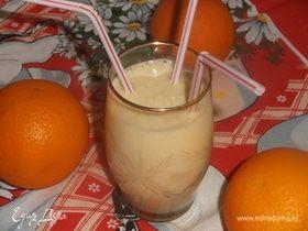 Молочно-апельсиновый коктейль