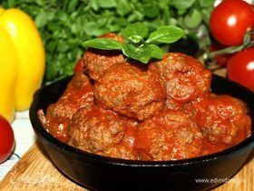 Митболы в томатном соусе