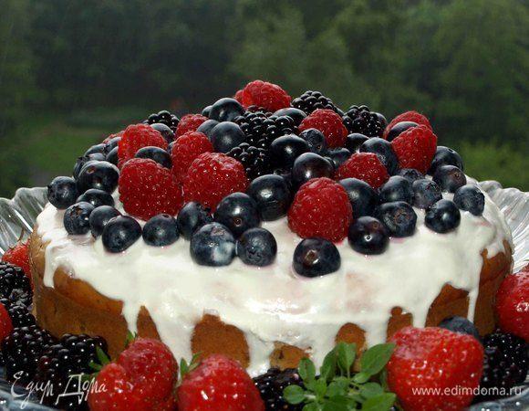 Йогуртовый кекс с голубикой