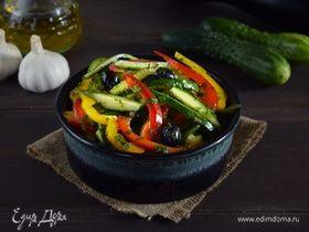 Салат из перцев и огурцов