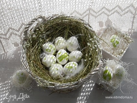 Пасхальные яйца «Бабушкино лукошко»