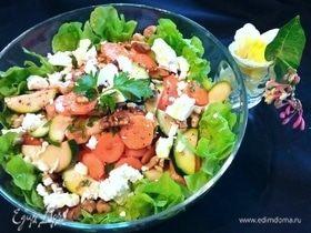 Морковный салат с цукини