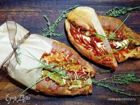 Баварские бутерброды-булочки с колбасой
