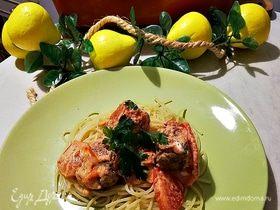 Сливочные тефтели по-итальянски с томатами и моцареллой