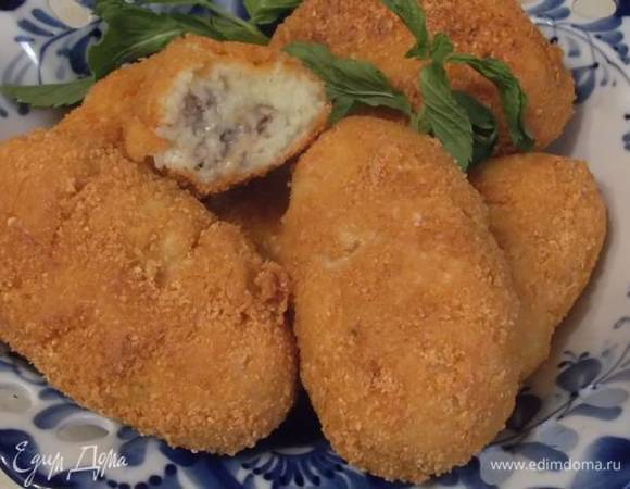 Картофельные зразы с рыбными консервами
