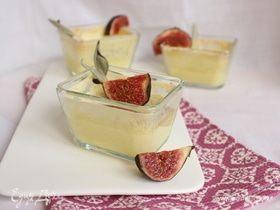Запеченный лимонный крем с шалфеем и инжиром