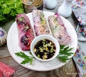 Спринг-роллы с тунцом и овощами «Радуга»
