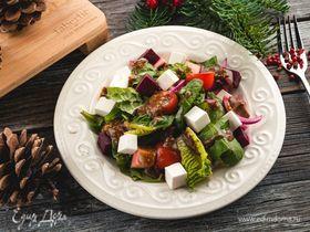 Салат из свеклы, авокадо и феты