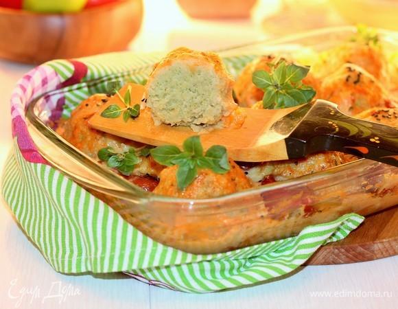 Горохово-капустные фрикадельки с соусом