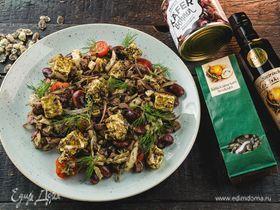 Салат из красной фасоли с овечьим сыром