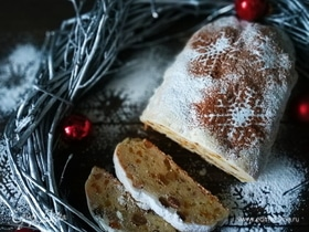 Рождественский творожный штоллен