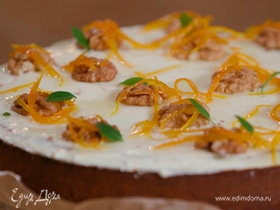 Апельсиновый пирог с кремом из сливочного сыра