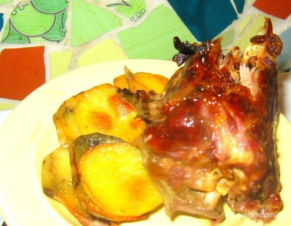 Индейка с картофелем и тыквой по-древнеамерикански