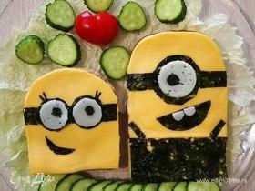 Безглютеновые бутерброды «Миньоны»