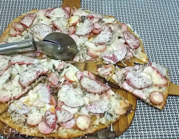 Сборная пицца на медовом тесте