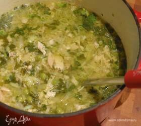 Куриный суп с булгуром и овощами
