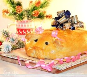 Кулебяка с рыбой «Новогодний поросенок»
