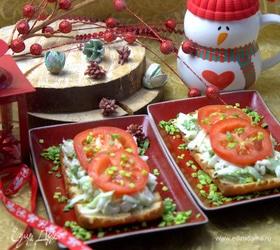 Тосты с овощами к завтраку