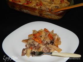 Жаркое по-домашнему в сливочно-сметанном соусе