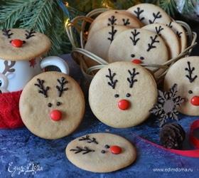 Имбирно-медовое печенье «Олененок Рудольф»
