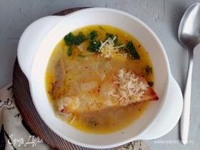 Луковый суп с грибами