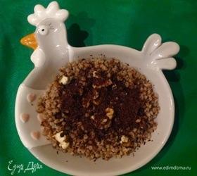 Гречневая каша с орехами и шоколадом