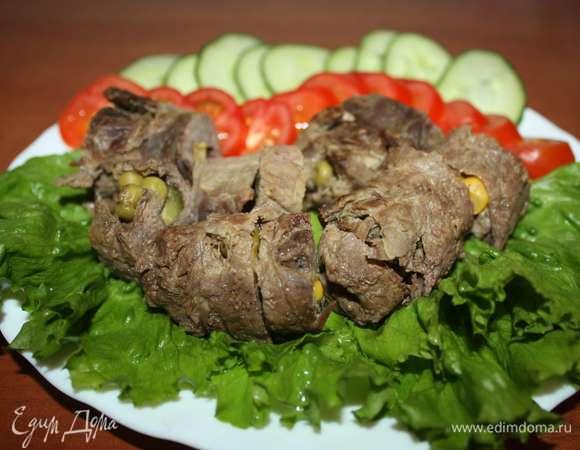 Мини-рулеты из говядины