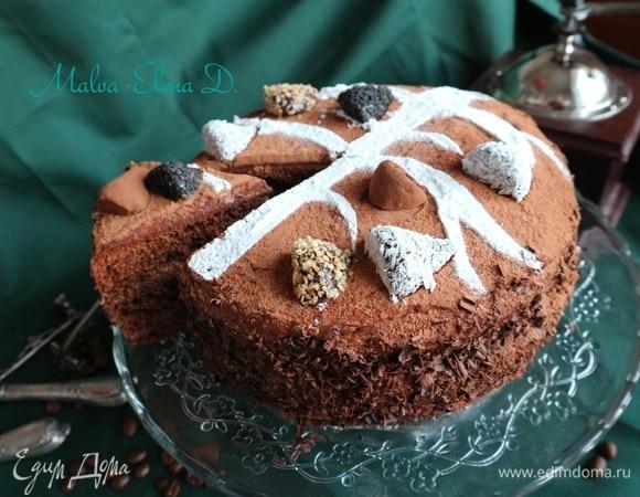 Трюфельный торт «Зимнее дерево»